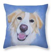 My Blonde Border Collie Throw Pillow