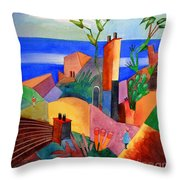 My Dream Vacation Throw Pillow
