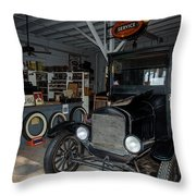 My Garage Throw Pillow