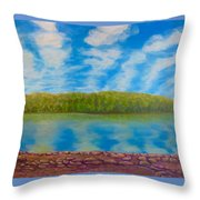 My Serenity Lies In A Place Between Heaven And Earth Throw Pillow