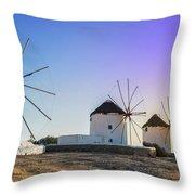 Mykonos, Greece Throw Pillow