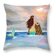 Mysteen The Mystical Queen Of The Sea Throw Pillow