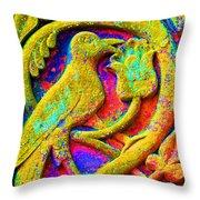 Mythical Bird. Throw Pillow