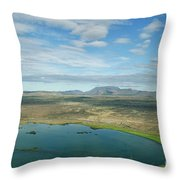 Beautiful Myvatn, Iceland Throw Pillow