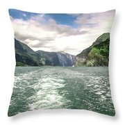 Naeroyfjord Throw Pillow by KG Thienemann