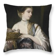 Nancy Reynolds With Doves Throw Pillow