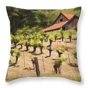 Napa Barn Throw Pillow
