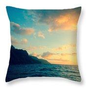 Napali Coast Throw Pillow