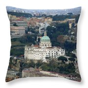 Naples Italy Throw Pillow