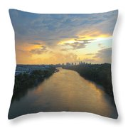Nashville Sunset  Throw Pillow
