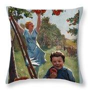 National Apple Week Throw Pillow