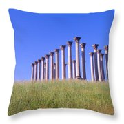 National Capitol Columns, National Throw Pillow