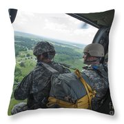 National Guard Special Forces Await Throw Pillow