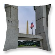 National World War II Memorial Throw Pillow
