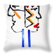 Native American Image Throw Pillow