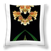 Nature In Abstract Orchidaceae Throw Pillow