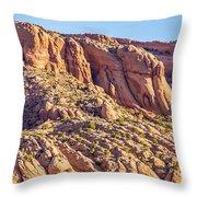 Navajo National Monument Canyons Throw Pillow