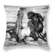 Neanderthal Man Throw Pillow
