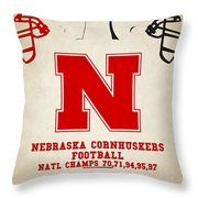 Nebraska Cornhuskers Throw Pillow