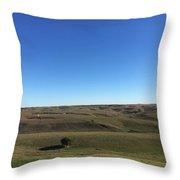 Nebraska Sandhills Throw Pillow