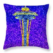 Needle In Mosaic Throw Pillow