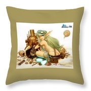 Neo Steam Throw Pillow