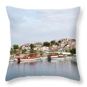 Neos Marmaras Sithonia Halkidiki Greece Throw Pillow