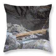 Nepal Bridge Throw Pillow