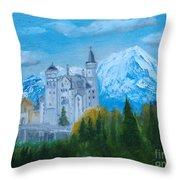 Neuschwanstein Castle In Bavaria Throw Pillow