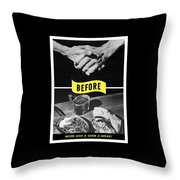 Never Give A Germ A Break Throw Pillow