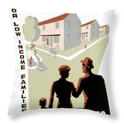 New Deal: Wpa Poster Throw Pillow