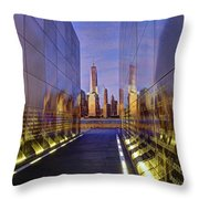 New Jersey Empty Sky 9-11 Memorial Throw Pillow