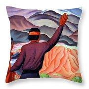New Mexico And Arizona Rockies Throw Pillow