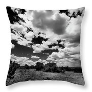 New Mexico Clouds Throw Pillow