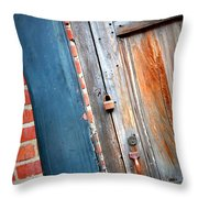 New Orleans Door 2 Throw Pillow