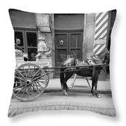New Orleans: Milk Cart Throw Pillow