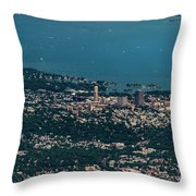 New Rochelle Real Estate Aerial Photo Throw Pillow