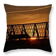 New Roof At Sunset Throw Pillow