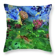 Lily Pops Throw Pillow