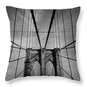 New York City - Brooklyn Bridge Throw Pillow