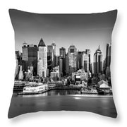 New York City Panorama Throw Pillow