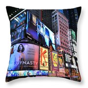 New York City Times Square Throw Pillow
