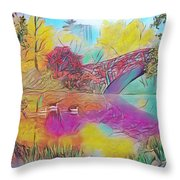 New York In Fall Throw Pillow