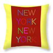 New York No 1 Throw Pillow