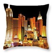 New York New York Hotel Throw Pillow