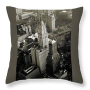 New York Woolworth Building - Vintage Photo Art Print Throw Pillow