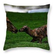 Newborn Elk Throw Pillow