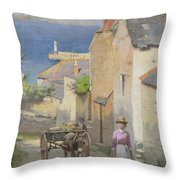Newlyn From The Bottom Of Adit Lane Throw Pillow