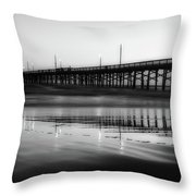 Newport Beach Pier At Sunrise Throw Pillow