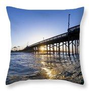 Newport Pier Curl Throw Pillow